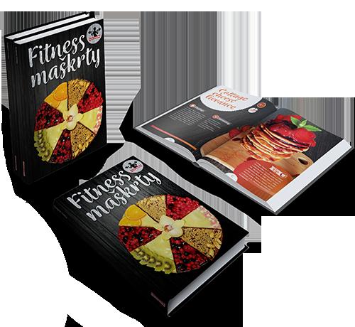 kniha fitness maškrty, zdravé koláčiky, koláče, recepty