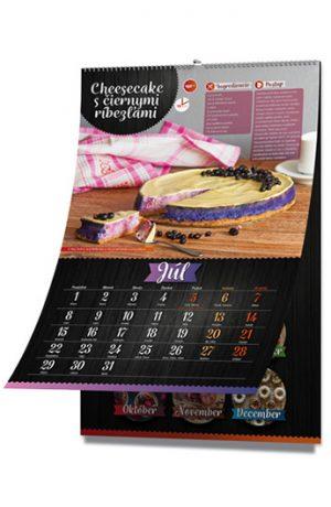 Kalendár fitness maškrty, recepty na júl
