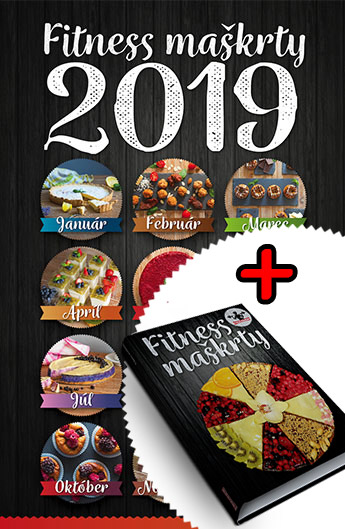 kalendár a kniha fitness maškrty 2019, zdravé recepty, recept, pečenie