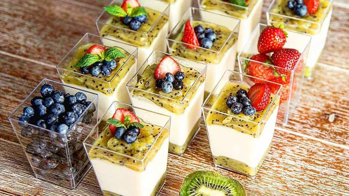 recept fit panna cotta
