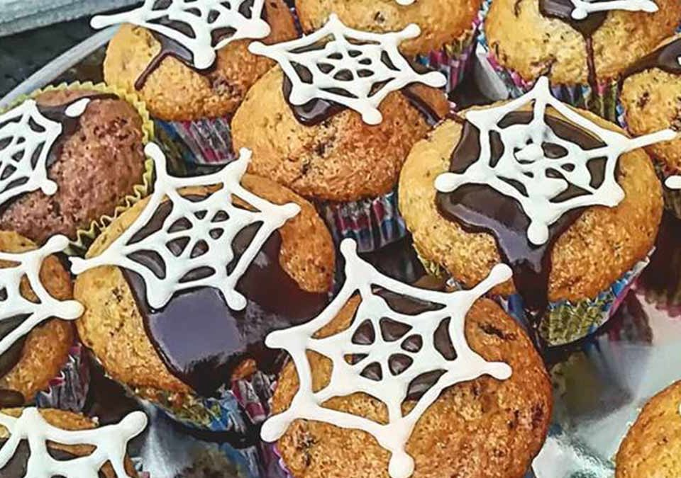 recept na halloween muffiny